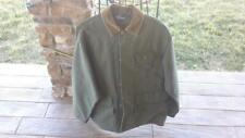 VINTAGE POLO RALPH LAUREN GREEN CANVAS BIRD HUNTING FIELD JACKET - SIZE MED.