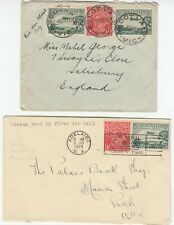AUSTRALIA 1929 2x early air mail covers *ASCOT-ENGLAND* & *ADELAIDE-PERTH*
