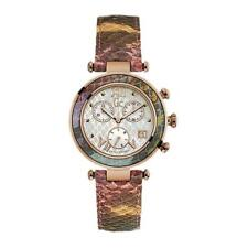 Guess Collection Watch Women Chronograph GC Lady Chic Pink Snake Skin Y05013M1
