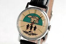 Pobeda Buran Watch White Polar Bear Men's Mechanical Watch Serviced Excellent