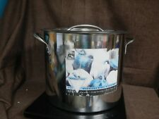 ALCO, 14 Qt Stock Pot with Lid Stainless, GUC