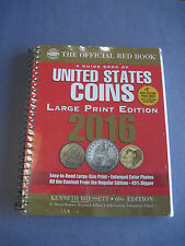 2016 Whitman Official Red Book of US Coins- Large Print Edition - Spiral *NEW*