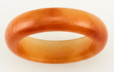 Natural Red Jadeite Jade Continuous Band Ring, Size 8