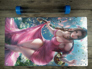 Final Fantasy Sexy Aerith Gainsborough Trading Card Game Playmat Free Best Tube