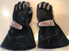Denny Hamlin Race Used Rookie Era NASCAR Gloves FedEx Racing Joe Gibbs Autograph