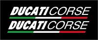 Adesivi Ducati Corse TRICOLORE  MOTO SCOOTER MONSTER PANIGALE VARIE DIMENSIONI