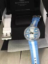BOMBERG Watch  1968  Blue Chronograph 40mm RS40H3SS.160.3 Diamonds Bazel . Swiss