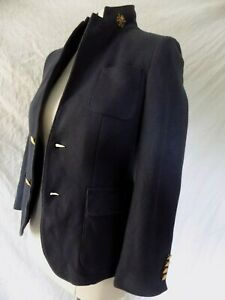 POLO RALPH LAUREN   NAVY BLUE  BLAZER JACKET GOLD POLO EMBOSSED  BUTTONS SZ 12