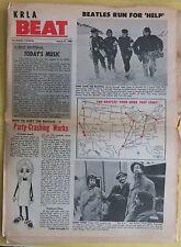 KRLA BEAT Vol 1 No 23 Aug 1965 Beatles Rolling Stones Chad Jeremy Gene Pitney