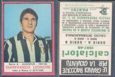 FIGURINA CALCIATORI PANINI A-1967/68* JUVENTUS,LEONCINI* NUOVA