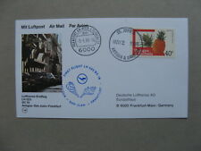 ANTIGUA & BARBUDA, card FFC 1988, Antigua - Frankfurt, stamp pineapple fruit