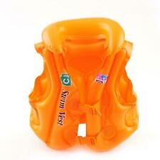 Float Inflatable Swim Vest Life Jacket Swimming Aid For Age 3-6