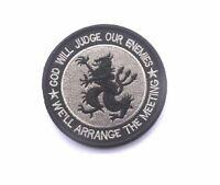 PATCH DEVGRU  SEALS airsoft morale embroired leon rampante tridente black