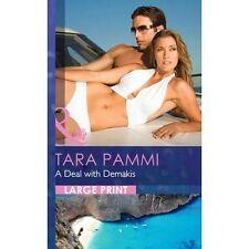 Tara Pammi, A Deal with Demakis (Largeprint Romance), Very Good Book