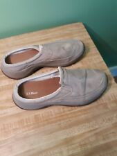 LL Bean Sunwashed Canvas Slip On Casual Moc Shoe Womens Size 7