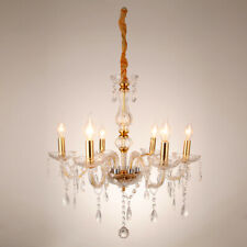 Samger Luxurious 6 Arms Chandelier Pendant Lamp Crystal Ceiling Light Gold E12