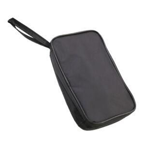 Universal Soft Multimeter Storage Bag Zipper Pouch Black Case for Digital Meter