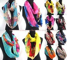 US SELLER-lot of 6 Fashion Scarves for Women vintage floral infinity scarf