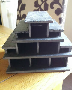 1 x 6 Caves in 1 Breeding slate cave set for bristlenose, pleco + fry hide