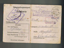 1943 Germany Stalag 8B Pow Prisoner of War Postcard Cover to Australia E King