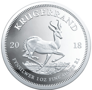 2018 South Africa 1 Rand Krugerrand 1 oz 999 Silver Proof Coin - 15,000 Made