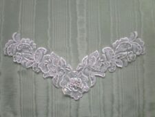 Beaded  White Organza Motif  no 2