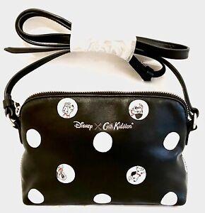 Cath Kidston Disney 101 Dalmatians Leather Bag Dalmations Spot Dot Handbag Black