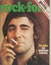 """ROCK & FOLK n°83 décembre 1973"" Keith MOON (WHO) Photo Claude GASSIAN"