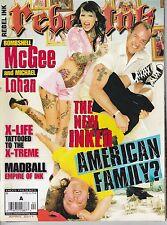 APRIL 2011 REBEL INK vintage tattoo magazine - AMERICAN FAMILY -
