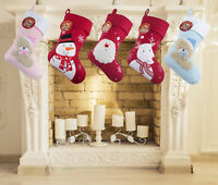 Personalised Kids Luxury Embroidered Xmas Stocking Sack Santa Christmas Baby