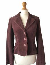 Hobbs Brown Velvet Style Fitted Blazer Jacket 10 Spring Cotton Races Wedding