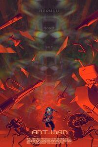 Marvel's Ant-Man Reg Movie Art Print Poster By Mondo Artist Kevin Tong