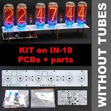 Nixie Tubes Clock IN-18 DIY KIT PCBs+ALL Parts, Divergence Meter Mini, NO TUBES