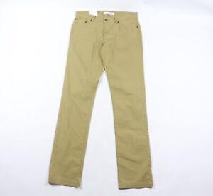 New Ben Sherman EC1 Mens 32x34 Skinny Fit Stretch Cotton Chinos Pants Khaki Tan
