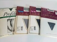 VTG Pantyhose Hanes Silk Reflections LOT 4 Control Top Size CD - COLOR VARIETY