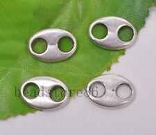 10pcs Tibetan Silver oval Pendant Connector Charms  DIY connectors 14x10mm J3117
