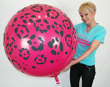 "1 x Qualatex 36"" runder Riesenluftballon PINK LEOPARD-Print *SAFARI*WILD BERRY*"