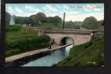 Woodley, Peak Forest Canal near Hyde / Stockport - colour printed postcard