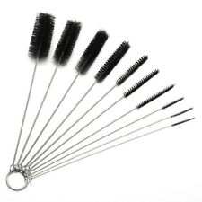 10 Nylon Stainless Steel Cleaners Cleaning Brushes for Tobacco Pipe Airbrush RH