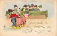 A75/ Die-Cut Stand-Up Valentine's Day? Holiday Postcard c1910 Benjen Signed 2