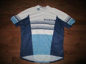 Men's Pearl Izumi Select Blue White 1/2 Zip Cycling Jersey Sz. 2XL