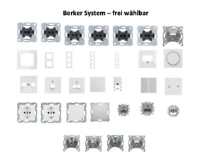 BERKER S.1 polarweiß glänzend Schalter/Steckdose/Rahmen - frei wählbar
