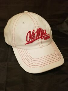 Ole Miss Rebs Ladies Strap Back Hat Cap Headgear 100% Cotton Gear For Sports