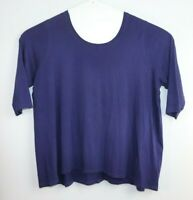 Virtuelle Women's Plus Size 3/4 Sleeve Purple Top Size XL