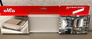 "Elfa Wire Shelf basket dividers 16"" x 4"" - plastic - set of 2"