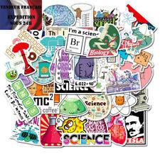 * Lot autocollants stickers thème : SCIENCES / LABORATOIRE *