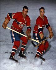 NHL 1950's  Montreal Canadiens HOFers Maurice & Henri Richard Color 8 X 10 Photo