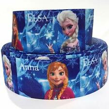 "Grosgrain Ribbon 7/8"" Frozen Elsa Anna Princess Printed COMBINE SHIPPING"