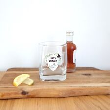 Personalised Whiskey Glass Printed Gift For Him Stocking Filler Dad, Husband Gin
