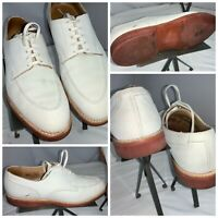 Crockett & Jones Onslow Bucks Shoes Sz 10.5 Men White Suede Made UK YGI K0S-39